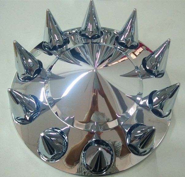 Chrome front axle wheel cover with 33mm removable nut covers DH-YY15200